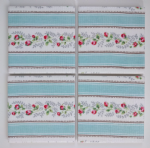 4 Ceramic Coasters in Cath Kidston Tea Rose Stripe